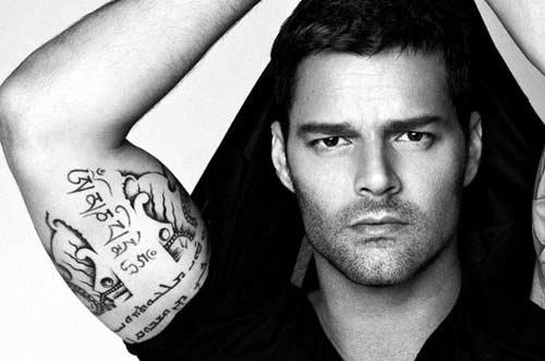 Ricky Martin tatuaje