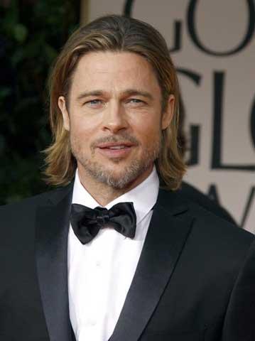 Brad Pitt guapo cabello largo
